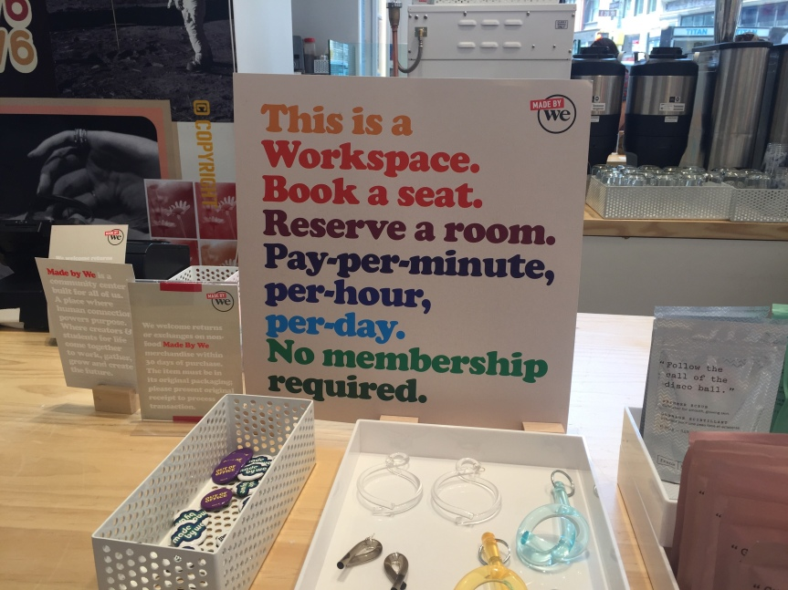 We Workの新スタイルカフェ/仕事スペース